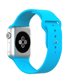 Silicone Sport Replacement WristBand Strap for Apple Watch 38mm - Blue