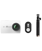 YI 4K Action Camera Travel Kit with Selfie Stick & Bluetooth Remote International Version CAM-YI-AC-02B-W