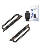 Metal Band Axle Connector Clasp with Screen Protector for Apple Watch 38mm Black