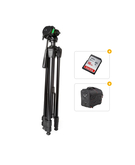 Power TR395 Heavy Duty Tripod+ SanDisk Ultra SDHC 16GB Memory Card+ Smart Carry Case