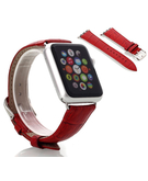 Crocodile Skin Leather Wristband Strap for Apple Watch 38mm - Red