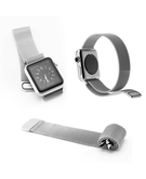 Stainless Steel Mesh Loop Replacement Wrist Band strap for Apple Watch 38mm - Silver