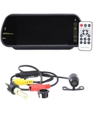 X3 Universal 7 Inch LCD Mirror Monitor with Wireless Remote+ X3 Car Reversing Camera