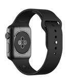 Silicone Sport Replacement WristBand Strap for Apple Watch 38mm - Black