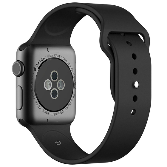Silicone Sport Replacement WristBand Strap for Apple Watch 42mm - Black