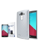 Rearth Ringke Slim Frost Premium Case Cover & Ozone Screen Protector for LG G4 - Grey,  Grey