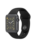 Apple Watch 38MM Space Gray Aluminum Case with Black Sport Band MJ2X2, 38 MM,  Black
