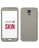 Stylizedd Premium Vinyl Skin Decal Body Wrap for Samsung Galaxy S5 - Brushed Titanium
