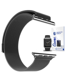 Stainless Steel Mesh Band strap with Screen protector for Apple Watch 38mm Black