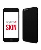 Stylizedd Premium Vinyl Skin Decal Body Wrap for Apple iPhone 6 - Brushed Black Metallic