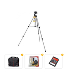Bundle Offer Power Tripod[ TR-3140] with SoliBag DSLR Lens Kit Case, Panchom 5 in 1 Cleaning Kit and SanDisk Card (8gb)