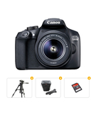 Canon EOS 1300D Lens Kit 18 - 55mm 18 MP DSLR Camera Bundle with Tripod+ Carrry Case+ Memory Card 16GB
