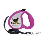 Dogcats High Quality Auto Retractable Nylon Braid Dog Leash for Small and Medium Breed Dogs, purple