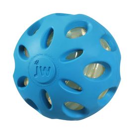 JW Pet USA Crackle Heads Ball for Medium to Large Dogs, blue