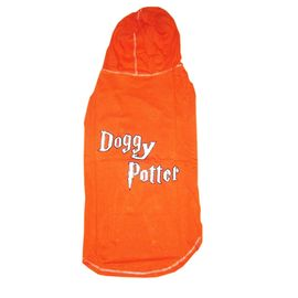 Zorba Designer Cotton Hoodie for Large Dogs, orange, 28 inch