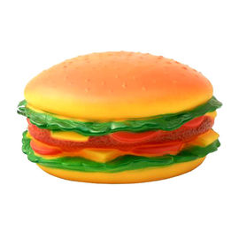 Jumbo Burger Shaped Latex Squeaky Dog Toy, 15 cms