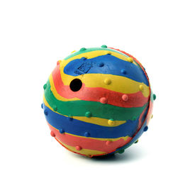Kennel Solid Rubber Musical Ball Dog Toy, 8 cms