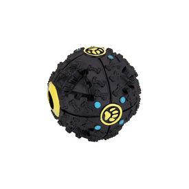 Funny Treat Ball with Quack Sound for Dogs, black, medium