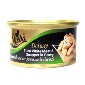 Sheba Deluxe Tuna White Meat & Snapper in Gravy for Adult Cat, 85 gms