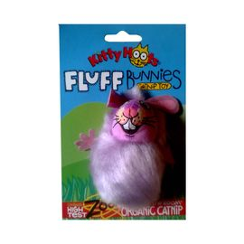 Kitty Hoots Fluff Bunnies Catnip Toys for Cats and Kittens, purple