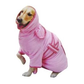 Zorba Designer Bathrobe for Large Dogs, pink, 30 inch