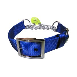 Canine Nylon Choke Collar for Medium to Some Large Dogs, 0.75 inch, blue