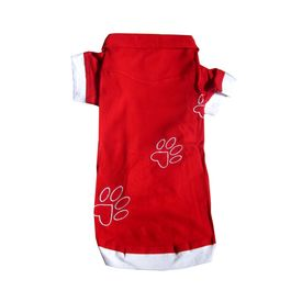 Zorba Designer High Quality Embroidered Tshirt for Small Breed Dogs, red, 18 inch