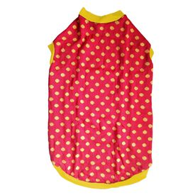 Rays Woollen Warm Sweater for Large Dogs, 26 inch, red yellow polka
