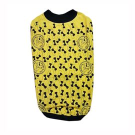 Zorro & Sizi Printed Tshirt for Large Dogs, yellow, 28 inch