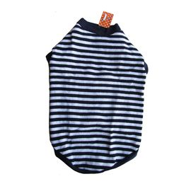 Rays Striped Woollen Sweater for Medium Dogs, 22 inch, navy & white