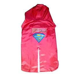 Rays Premium SuperMan Print Raincoat for Large to Giant Dogs, red, 30 inch