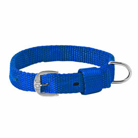 Kennel Nylon Royal Dog Collar for Medium Dogs, 1 inch, 22 inch, blue