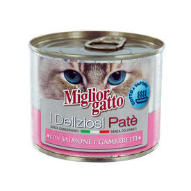 Miglior Gatto Salmon and Shrimp Canned Cat Food, 200 gm