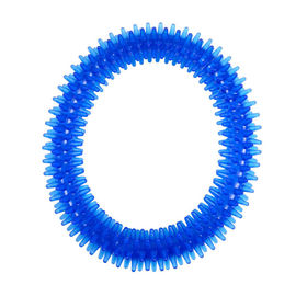 Nunbell Nylon Spiked Play Ring for Dogs and Cats, blue, large