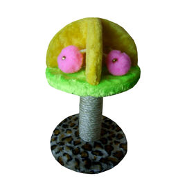 Canine Plush Scratching Cat Tree, striped