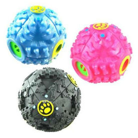 Funny Treat Ball with Quack Sound for Small Dogs and Cats, black, small