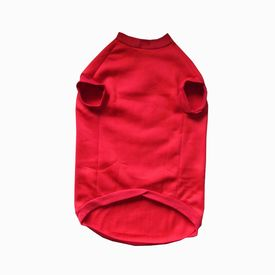 Rays Fleece Warm Rubber Print Tshirt for Small Dogs, 18 inch, red love owner