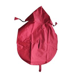 Premium Nylon Raincoat for Small Dogs, 18 inch, red