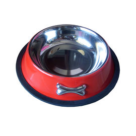 Zorba Designer Metal Bowl, red, medium