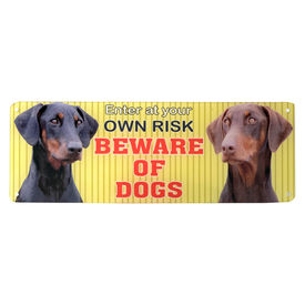 Kennel Beware of Dogs Acrylic Sign Plate, 4 x 12 inches, assorted
