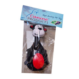 Canine Latex Squeaky Pet Toy, white cow