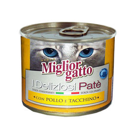 Miglior Gatto Chicken and Turkey Canned Cat Food, 200 gms