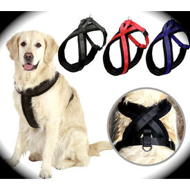 Puppy Love Fleece Padded Body Harness for Large and Giant Breed Dogs, x large , blue