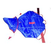 Premium Double Sided Raincoat for Small Dogs, 18 inch, red blue