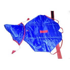 Premium Double Sided Raincoat for Small Dogs, 16 inch, red blue