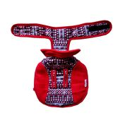 Rays Fleece Foam Warm Winter Coat for Toy Breed Dogs, 12 inch, red checkers