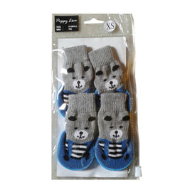 Puppy Love Anti Skid Sock Shoes for Toy Breed Dogs, blue, extra small