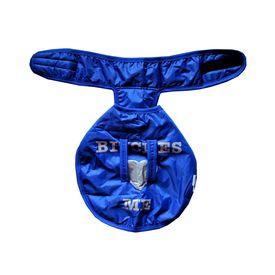 Rays PE Washable Warm Winter Coat for Toy Breed Dogs, 12 inch, blue message
