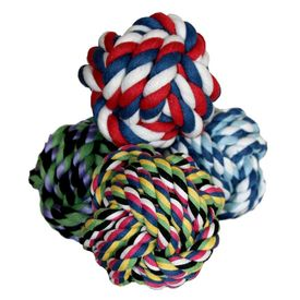 Canine Rope Tug Ball for Large and Giant Dogs, assorted, big