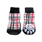 Puppy Love Anti Skid Socks for Medium Breed Dogs, checkered, large